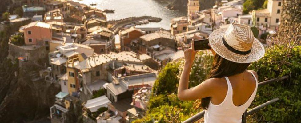 A girl taking photos