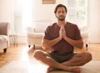 A man doing meditation