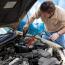 A man repair car