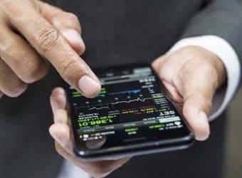 a man hold a phone